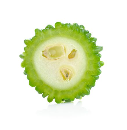 Bitter melon isolated on white background Imagens