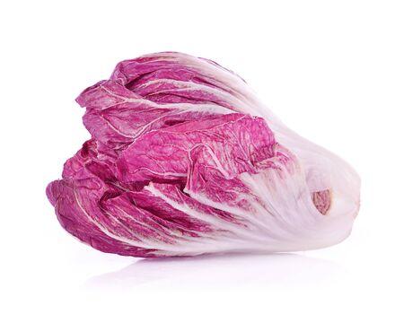 Radicchio, red salad isolated on white background Stockfoto