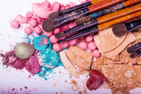 beauty make up: make-up accessories for creative visage  Stock Photo