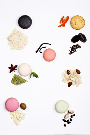 components of French macarons  Stock Photo - 23351089