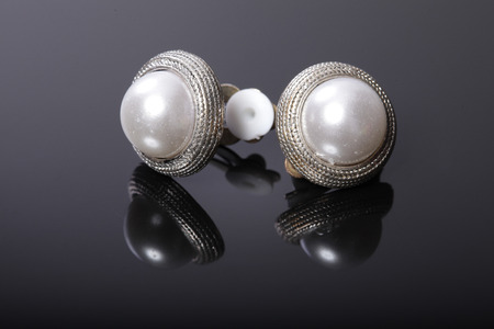 Earrings with pearls photo
