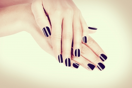 Woman s french manicure  photo
