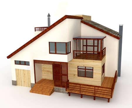 small house: Three-dimensional model of individual house