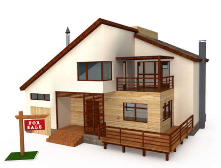 Three-dimensional model of individual house photo