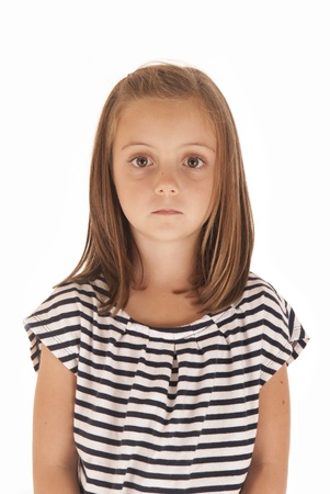 ojos marrones: Chica joven con los ojos brillantes poca expresión