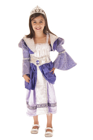 Cute little girl in purple princess outfit photo