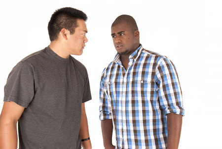 arguement: Two ethnic brothers having an serious arguement