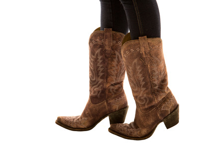 Close up of pair of cowboy boots photo