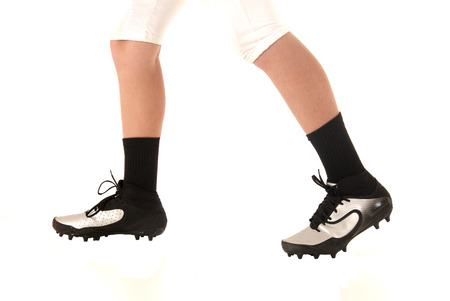 soccer cleats: soccer football cleats shoes closeup white