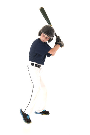 left handed baseball player ready to bat