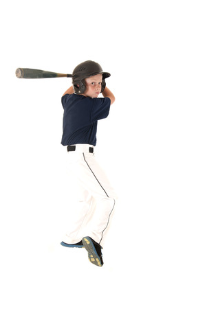 baseball player batting waiting for a pitch Stock Photo