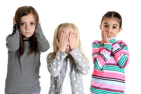 girls acting hear see speak no evil