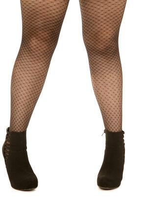 bas r�sille: Les femmes jambes portant des bas r�sille et talons