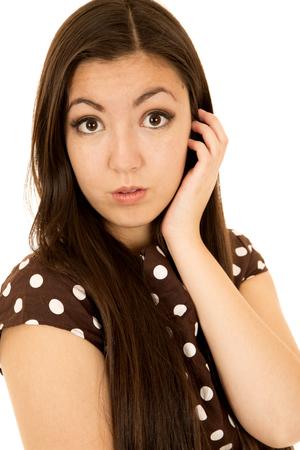 bright eyed: Bright eyed Asian American female looking forward