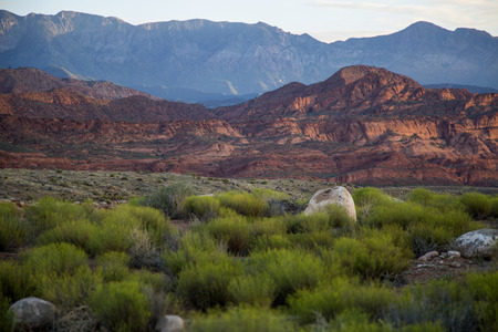 contrasts: Southern Utah red rock sunrise amazing contrasts