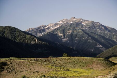 wasatch: Provo Peak Rocky Mountains early summer landscape Stock Photo