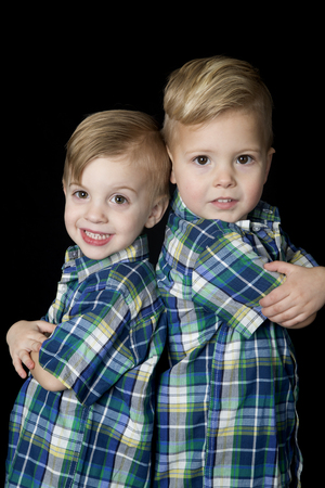 cute attitude: Young blond boys arms folded cute attitude