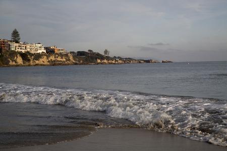 Newport Beach landscape Pacific Ocean waves clouds
