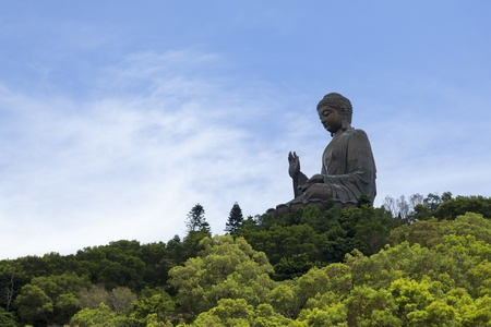 Tian Tan Buddha, known as the Big Buddha, was the worlds tallest outdoor bronze seated Buddha prior to 2007. photo