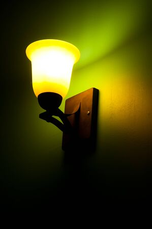 This was an interesting wall mounted lamp in one of the hotels where I stayed when traveling through Mexico  photo