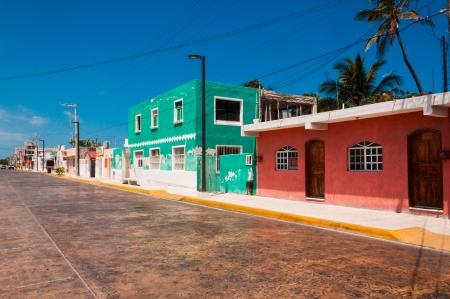 casa colonial: Progreso es un pueblo tranquilo en México, en Yucatán se Península