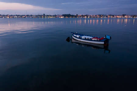 Lonely boat in Istria, Umag, Croatia  photo