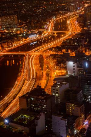 The landscape of Saigon: Một quan điểm của Sài Gòn từ Skydeck, Hồ Chí Minh, Việt Nam Kho ảnh