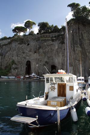 sorrento: sunny summer day. Boats from Sorrento harbor, Italy