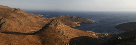 birds eye view: birds eye view of the island. Greece Stock Photo