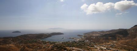 bird's eye view: birds eye view of the island. Greece Stock Photo