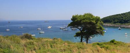 blue lagoon: Blue lagoon, island paradise. Adriatic Sea of Croatia, Korcula Stock Photo