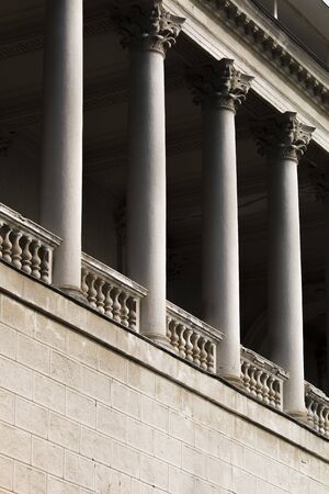 ancient building with columns. Building with many columns Standard-Bild
