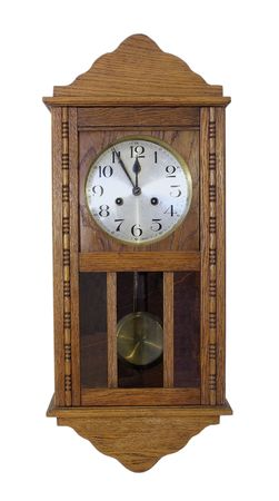 pendular: vintage wall clock with pendulum in wooden body
