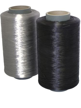 TWO BOBBIN  WITH WHITE AND BLACK THREAD