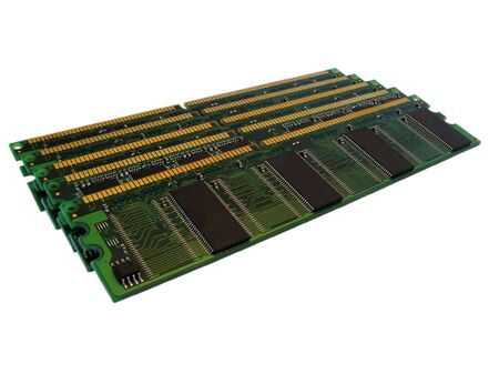 Computer memory on White Background