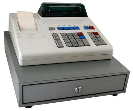 caja registradora: La caja registradora aislada con la visualizaci�n