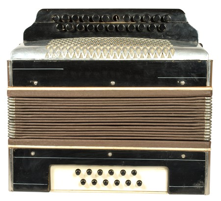 A very old accordion, one button is not 版權商用圖片