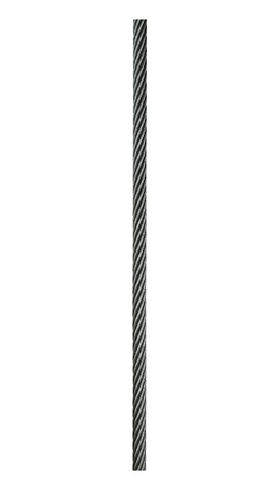 hawser:   Steel hawser isolated on white background.