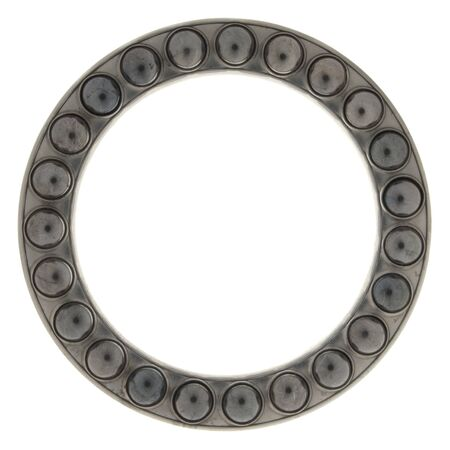 greasing: Bearing part of the round in a ring, isolated on white background.        Stock Photo