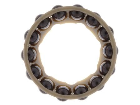 greasing: Teniendo parte de la ronda en un anillo, aislado en fondo blanco.