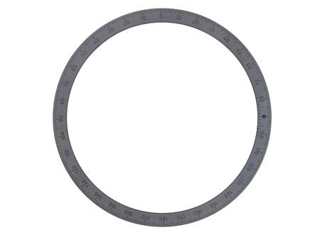 grading: Disco de metal con la clasificaci�n en los bordes, aisladas sobre fondo blanco Foto de archivo