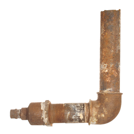 conduit: A fragment of the old water conduit consisting of pipes and fittings.
