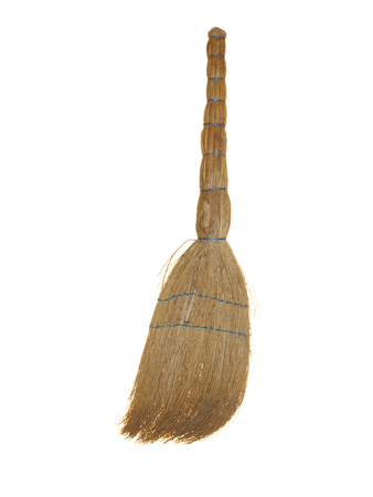Old broom of sorghum Stock Photo