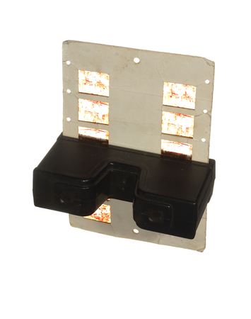 retro stereoscope isolated with reels on white background image. Stereogram, stereoscopic.