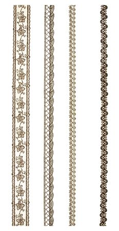 Lace isolated on white background. Decorative items for decoration 版權商用圖片
