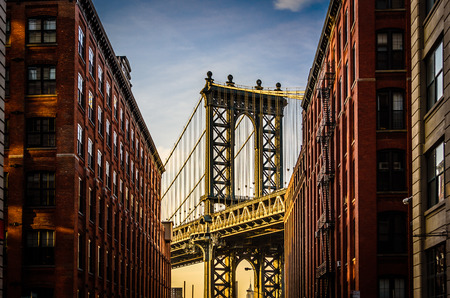 manhattan bridge: Manhattan Bridge view from Brooklyn