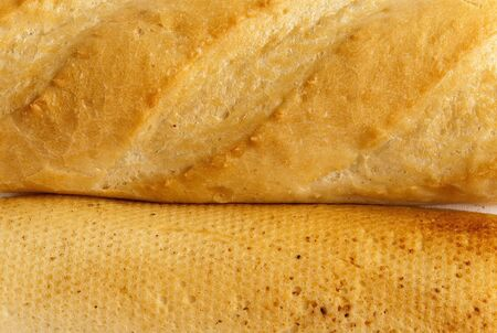 long faced:  Baguette, white bread from wheat Stock Photo