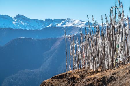 himalayan: Prayer flags in Himalayan Stock Photo