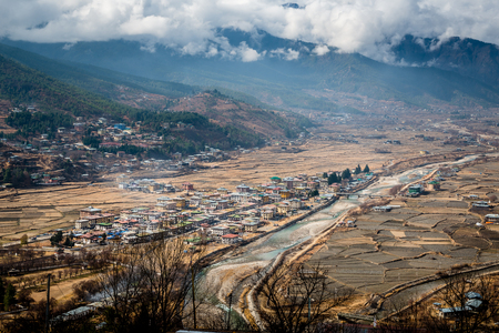 bhutan: Paro city Bhutan Stock Photo