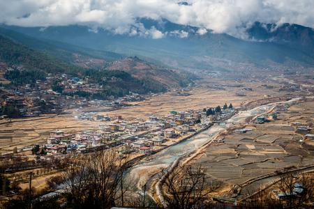 Bhutan: Paro city Bhutan Stock Photo